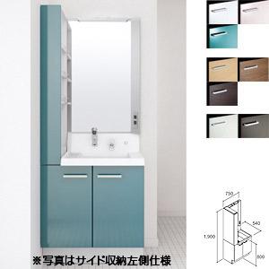 洗面化粧台[ピアラ][3面鏡(全収納タイプ)][フルスライドタイプ][間口750mm][一般地用]