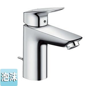 トイレ|洗面用蛇口[ハンスグローエ][ロギス][台][シングルレバー混合水栓][φ35][クールスタート][泡沫][引棒付][クロム][一般地]
