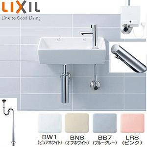 手洗器 [隅付小形(壁付式)] Sset [床排水] INAX [壁給水] L-92+LF-80