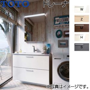 ●洗面化粧台セット ドレーナ[間口900mm][高さ1900mm][水栓:ハイネックスウィング水栓][木製1面鏡][LED][一般地]