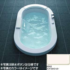 スーパーエクセレントバス[ブローバスSX2][水中照明3][滝状吐水バス水栓付き][1550サイズ][ステラホワイト][排水ボタン左仕様]