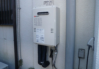 ガス給湯器取替工事 東京都立川市 GQ-1639WS-set