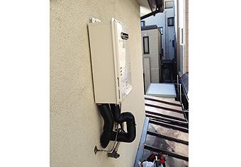 ガス給湯器取替工事 東京都府中市 GQ-1639WS