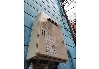 ガス給湯器取替工事 東京都品川区 GQ-1639WS
