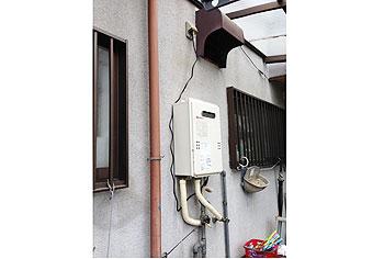 ガス給湯器取替工事 奈良県橿原市 GQ-1639WS-set