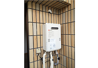 ガス給湯器取替工事 兵庫県神戸市 GQ-1639WS