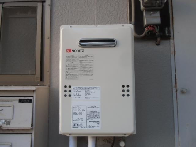 給湯器・排気カバー・給湯・給水配管取替工事 神奈川県横浜市緑区 GQ-1639WS