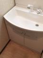 洗面化粧台取替・止水栓取替(搬入・運搬含む) 東京都中野区 GQM75KSCW-GQM75K1SMK