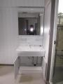 洗面化粧台取替工事 愛媛県松山市 LSAB-70A-LCM-753HW