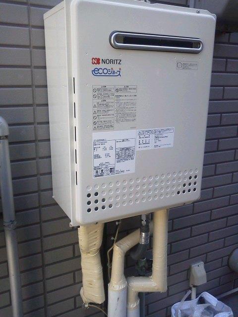 給湯器取替工事(エコジョーズ)/ガス配管取替え 広島県広島市東区 GT-C2452SAWX2set13A