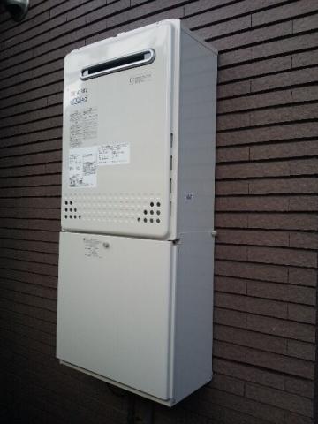 給湯器・配管カバー取替工事 東京都世田谷区 GT-C2052SAWX2set-13A