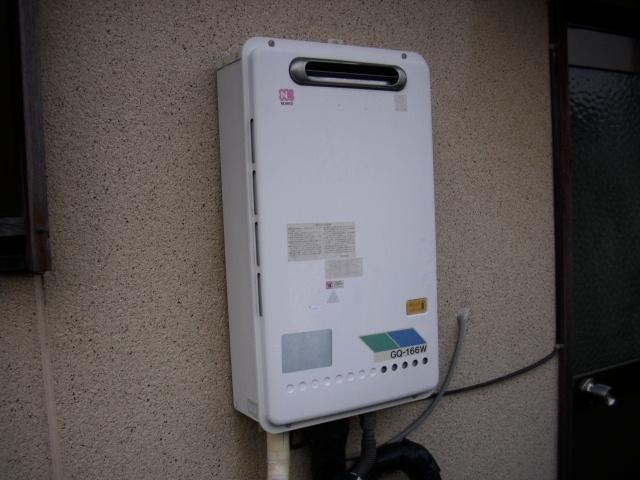 給湯器取替工事(ガス配管取替共) 滋賀県大津市 GQ-1639WS-set