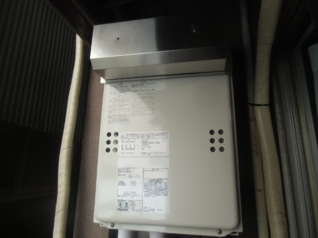 給湯器・ガス配管取替工事 東京都台東区 GQ-1639WS