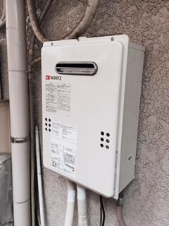 給湯器・ガス配管取替工事 東京都台東区 GQ-1639WS-set