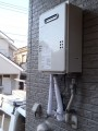 給湯器取替工事・頭上作業 神奈川県横浜市港南区 GQ-1639WS