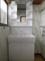 洗面化粧台取替工事 愛知県名古屋市中村区 LSAB-70A-LSAM-7VSH-W