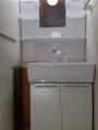 洗面化粧台取替工事 東京都中野区 LSAB-70A-LSAM-7VS-S-W