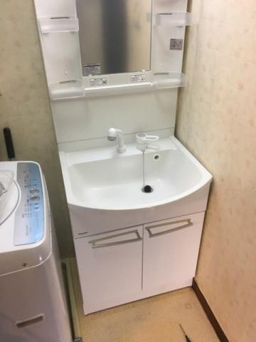 洗面化粧台取替工事 愛知県名古屋市中村区 kouji03