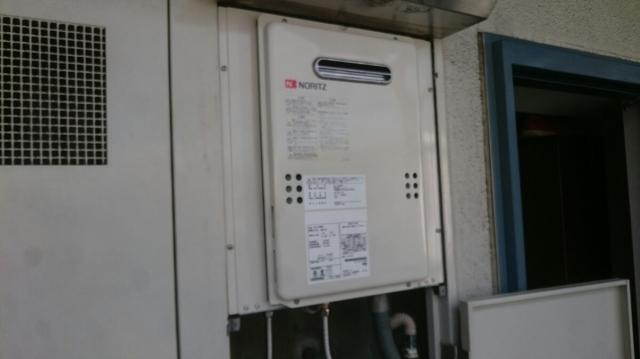 ガス給湯器取替工事 東京都昭島市 GQ-1639WS-set-13A