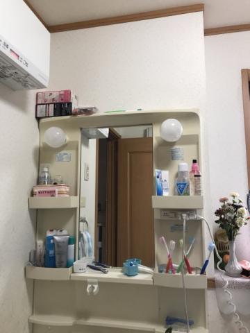 洗面化粧台取替工事 兵庫県丹波市 FTVH-755SY1-W-HD2W