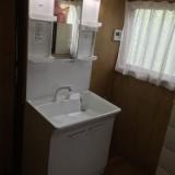 洗面化粧台取替工事 千葉県松戸市 LDPA075BAGEN2A-set-sale