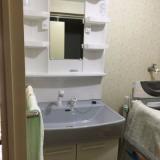 洗面化粧台取替工事 東京都大田区 LSAB-70A-LSAM-7VS-B