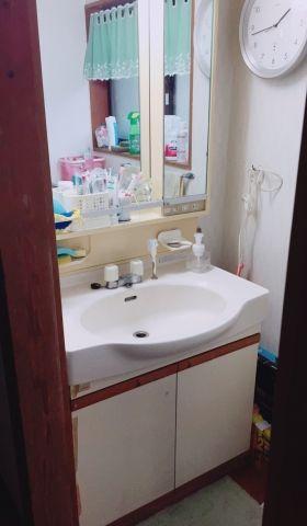 洗面化粧台取替工事 千葉県鴨川市 kouji03