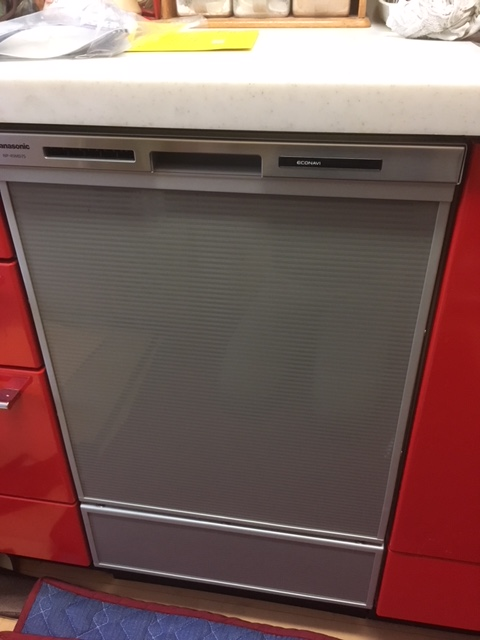 ビルトイン食洗機取替工事 広島県広島市西区 NP-45MD7S