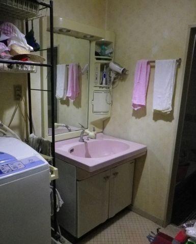 洗面化粧台 蛇口 便座取替工事 和歌山県岩出市 CW-KA21-BB7