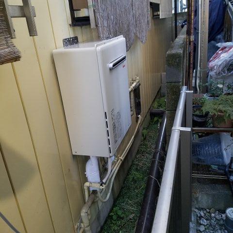 ガス給湯器取替工事 東京都江戸川区 RUF-A2005SAW-A-LPG