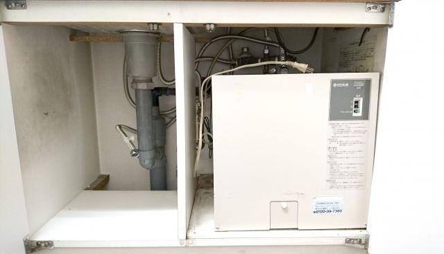 小型電気温水器取替工事 東京都府中市 EHPN-F12N1