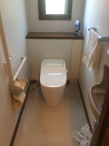 トイレ 2台取替工事 三重県鈴鹿市 XCH1401WS