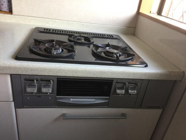 ビルトインガスコンロ取替工事 兵庫県神戸市西区 RS31W20A30DG-VW-LPG