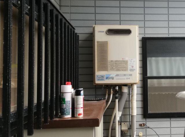 ガス給湯器取替工事 兵庫県尼崎市 RUF-E2405SAW-A-set-13A