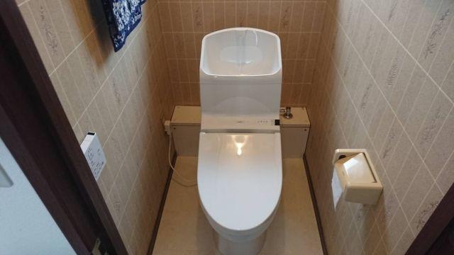 トイレ交換工事+床CF張替 宮城県宮城郡利府町 CES972P-NW1