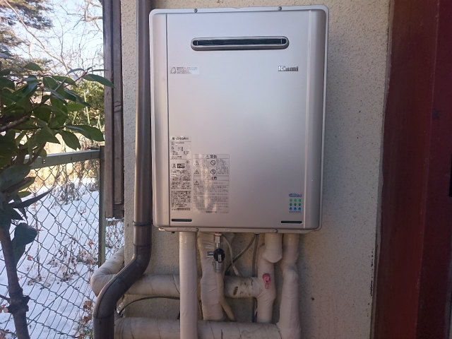 ガス給湯器交換工事 長野県小諸市 RUF-E2405SAW-A-set-LPG