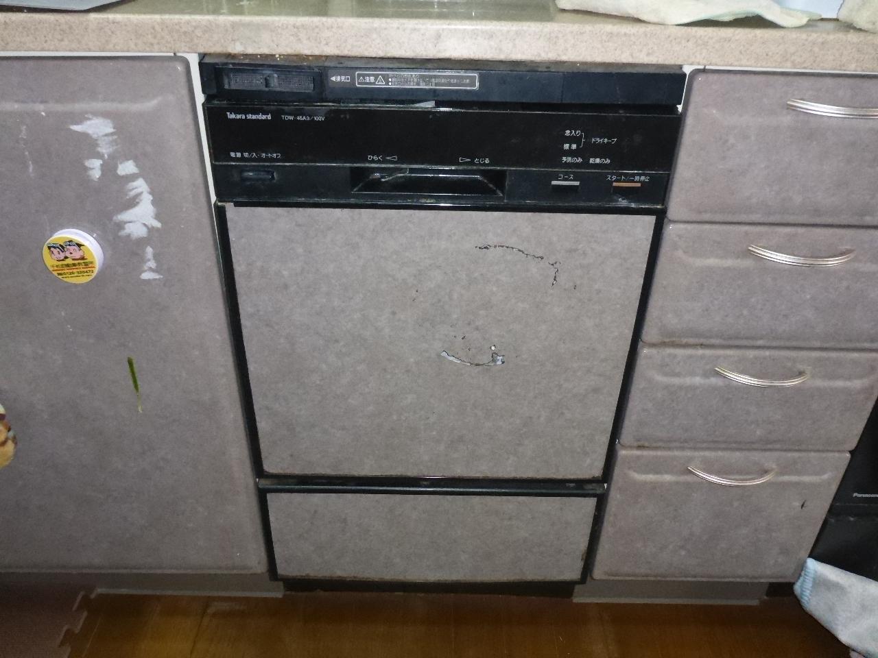 ビルトイン食洗機交換工事 徳島県徳島市 RSW-F402C-B