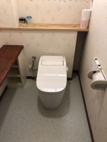 トイレ ・手洗交換工事 大阪府交野市