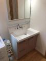 洗面化粧台交換工事 千葉県鎌ケ谷市