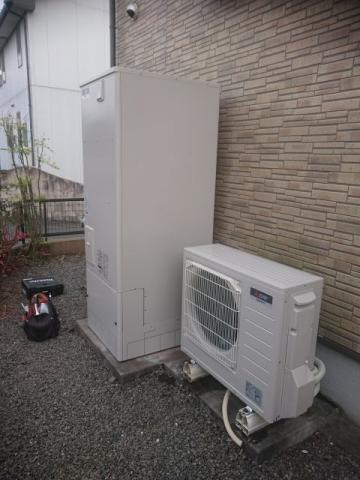 エコキュート トイレ交換工事 熊本県熊本市北区 SRT-S374U-set